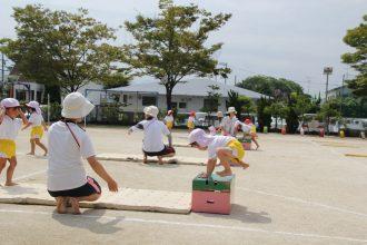 運動会練習と柳沢運動プログラム