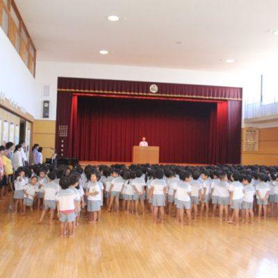 第二学期始業式