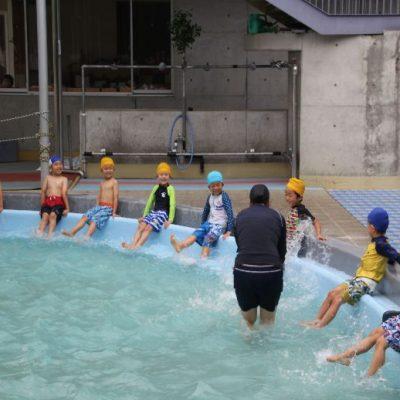 プール開き・プール遊び(年長)